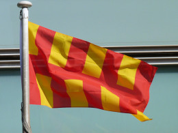 The Flag of Northumberland. When travelling the region expect to see this everywhere as the local people are rightly, very proud of their region.