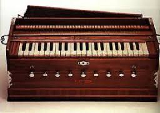 Indian Musical Instrument, 'Harmonium'.