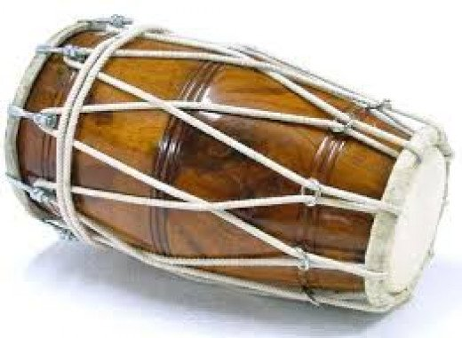 Indian Musical Instrument, 'Dholak'