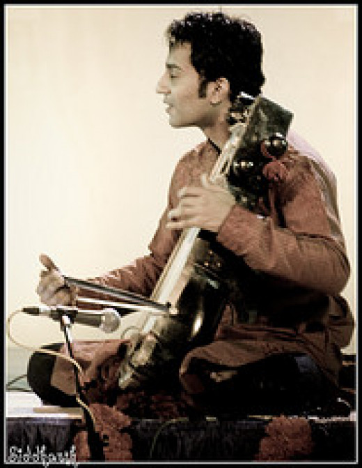 Indian Musical Instrument, 'Sarangi': Artist --Sabir Khan