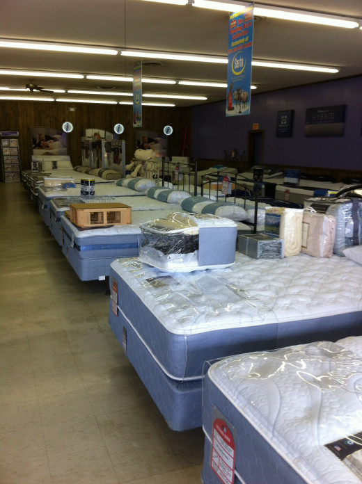 Choose a store that specializes in mattresses!