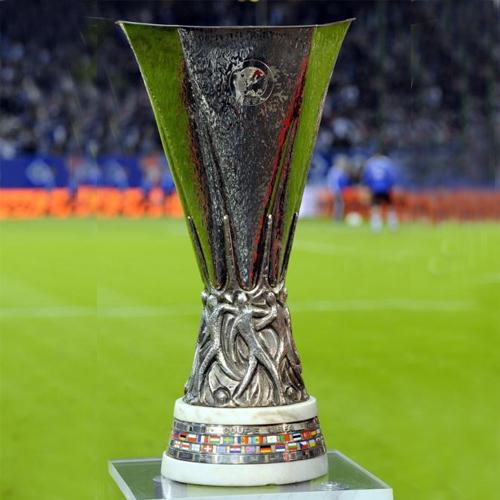 The UEFA Europe League trophy.