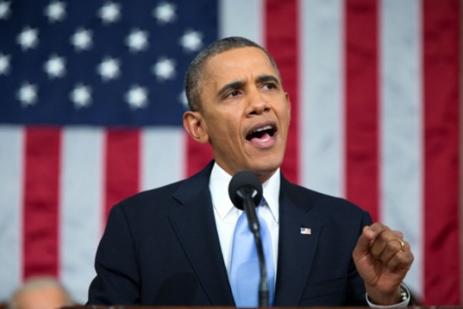 President Barack Obama during a speech