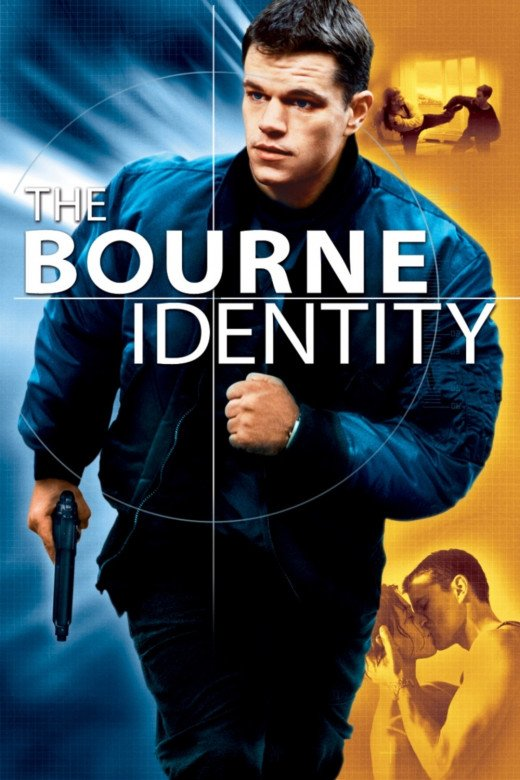 "Promotional poster for ""The Bourne Identity"""