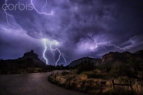 A dangerous lightning storm.