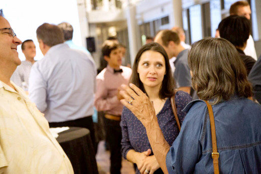 7 Games Generation co-founder Maria Burns Ortiz (middle) discusses product at EdTech launch