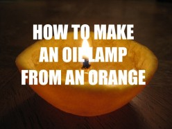 How To Make An Oil Lamp Out Of An Orange (With Step-By-Step Images)