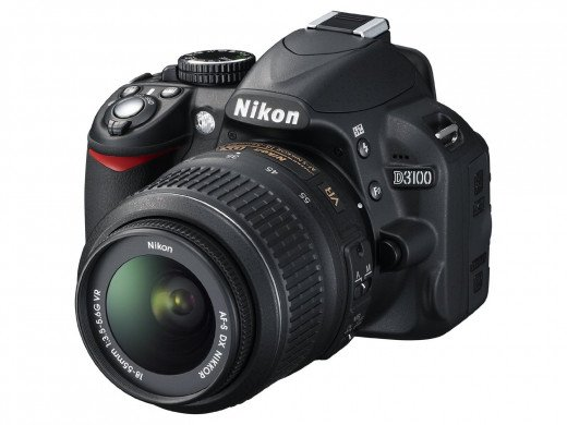 Nikon D3100 is priced at less than $400 -- a great value for someone who is just a beginner at photography.