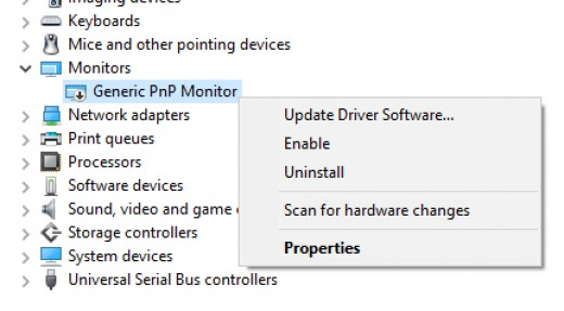 Enabling brightness control via Monitors