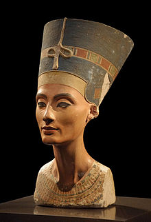 The Bust of Nefertiti in the Berlin Museum. King Tut's Mum
