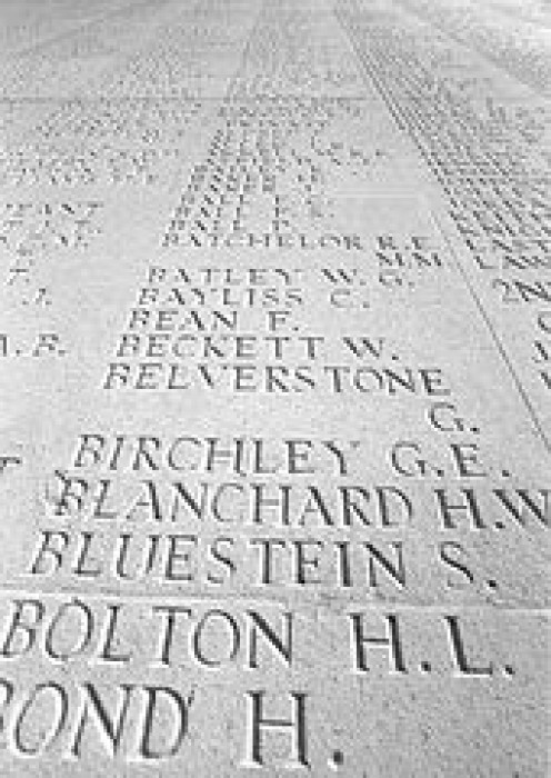Words that strike the heart at Thiepval War Memorial, France