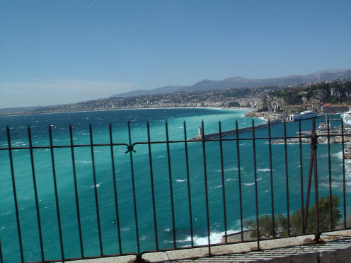 By the beautiful sea of the Cote d'Azur