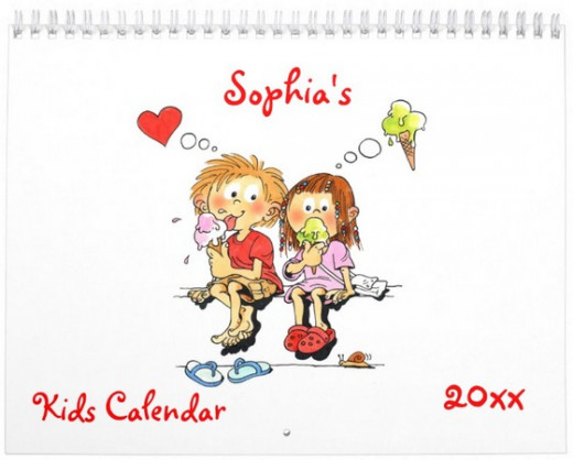 Personalized kids calendar - funny calendar for kids