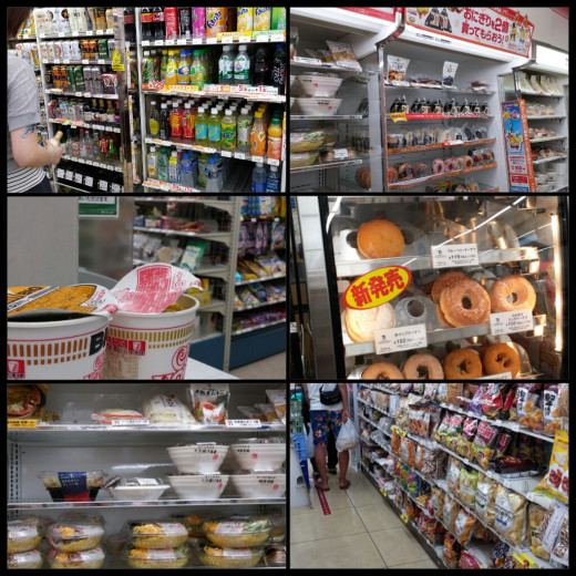 Convenience stores in Japan offer a wide selection of food. They taste good and are relatively safe for those with sensitive stomachs.