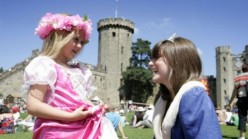 Warwick Castle: Knights Maidens and Two Happy Kids!