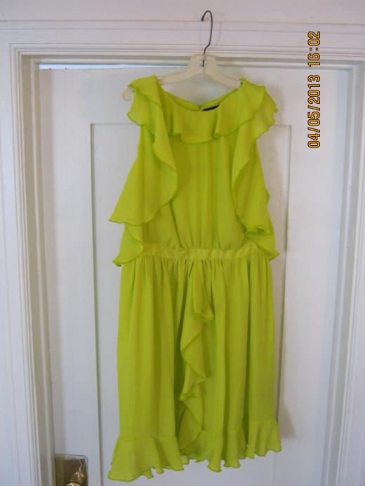 Chartreuse Prabal Garung for Target dress