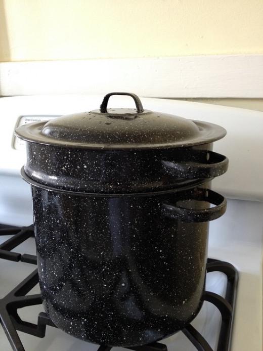 Graniteware blancher/steamer