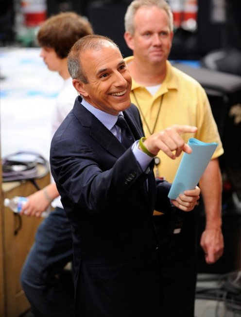 Lauer hard at work making sure everything is just right.