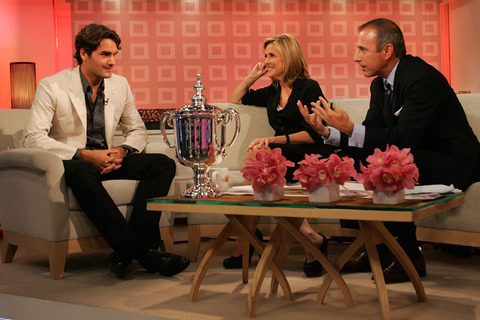 (From left), NASCAR legend, Jeff Gordon, Meredith Vieira, and Matt Lauer.