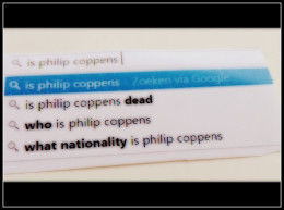 Google Poetry: Is Philip Coppens...?