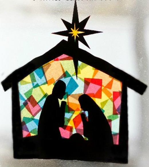 51 super easy christmas crafts hubpages for Christmas stained glass window templates