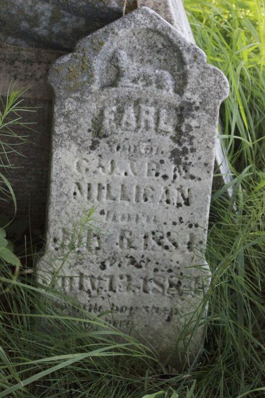 Gravestone of J. Earl Milligan, Valley View Cemetery