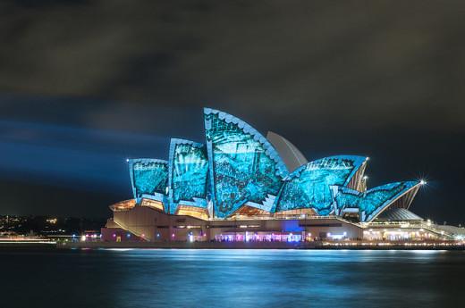 Opera House Blue Vivid 2014