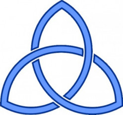 The symbol for the Holy Trinity.