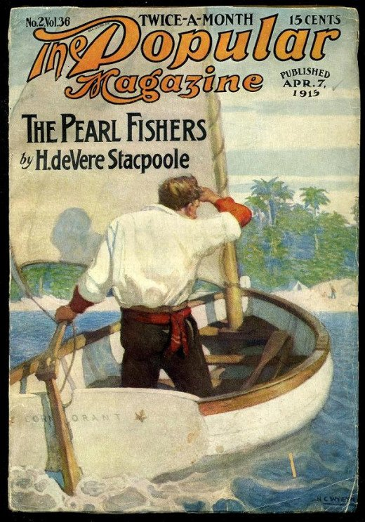 Cover to The Popular Magazine, April 7, 1915. Cover art by N. C. Wyeth Published by Street & Smith Publications, Inc. of New York, NY.