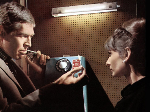 Coburn and Audrey Hepburn in 1963's Charade