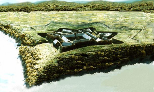 Recreation of Fort Duquesne