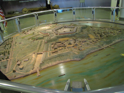 Model Of Fort Pitt At Fort Pitt Museum