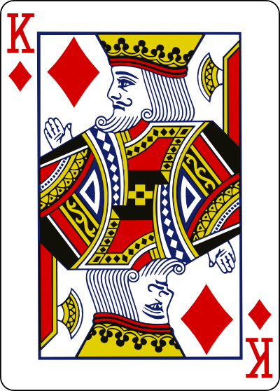 The still rounded edges of the playing card.