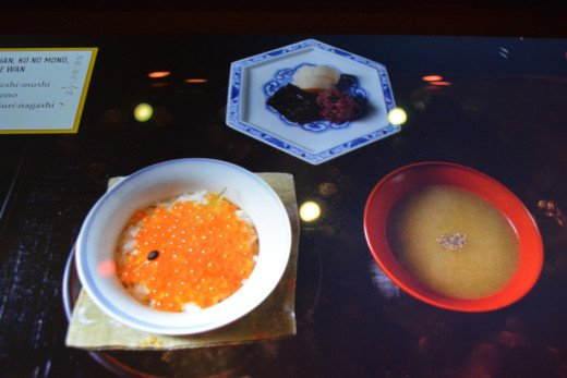 Displays the type of food eaten during the different seasons