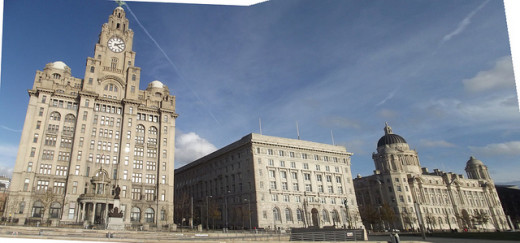 Liverpool waterfront boasts The Three Graces