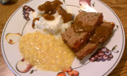 Delicious Venison Meatloaf with Onion, Green Pepper and Gravy