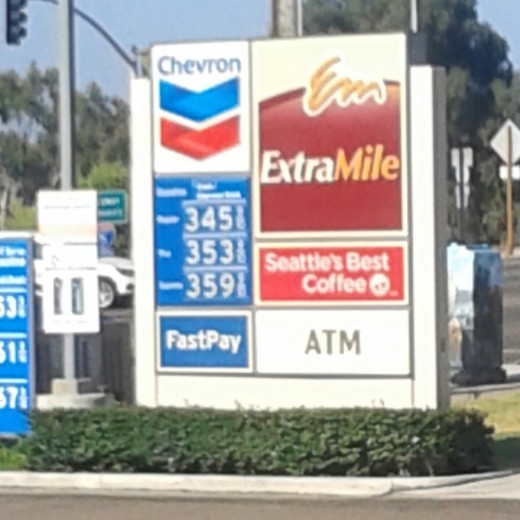 California gas prices on a good day.
