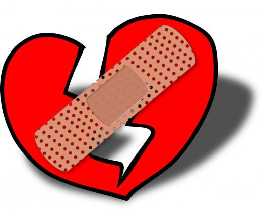 Mending a broken heart is not easy