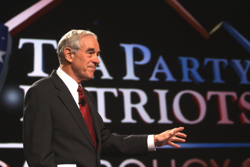 Congressman Ron Paul of Texas speaking at the Tea Party Patriots American Policy Summit in Phoenix, Arizona.