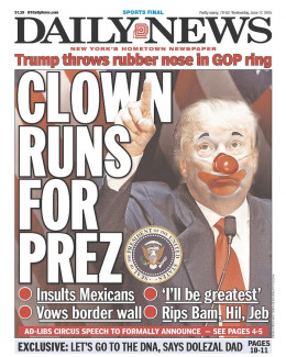 This is what educated and non greedy Americans see, when they see Donald Trump. Others can't see past the pony show.