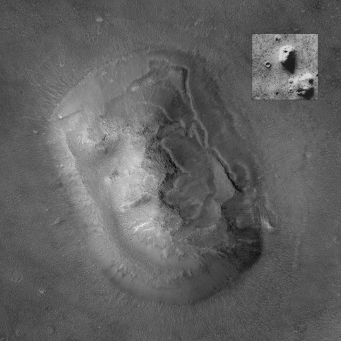The infamous face on Mars