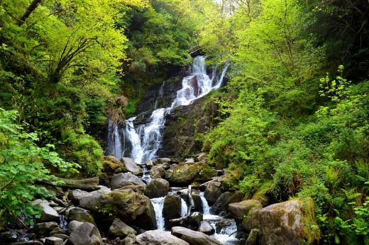 The small Torc waterfall is a convenient but secondary attraction.