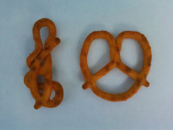 Is this the weirdest shaped pretzel that you've ever scene?