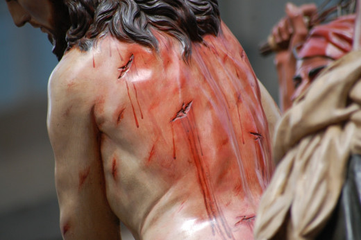 Throughout the hymn, 'Victory In Jesus', as is in the Holy Bible, it's all about the blood.