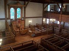 Interior of Old Ship Church