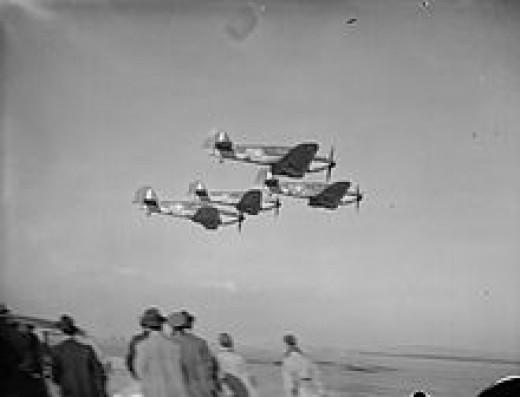 71 Squadron RAF in training