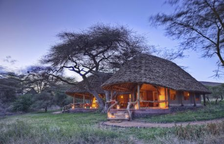 Family Tent with En-suite Rooms at Tortilis Camp Amboseli