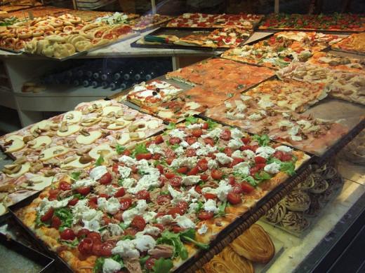 Shops selling takeaway pizza