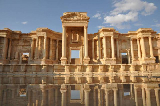 The spectacular Image of Palmyra Ruins