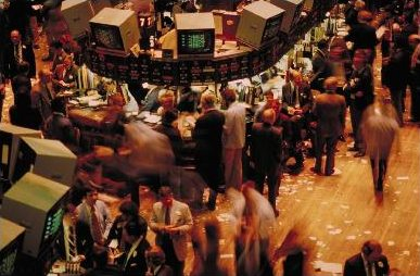The activity at the New York Stock Exchange trading floor